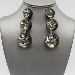 Sequin Ball Drop Earrings